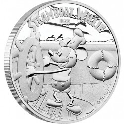 Niue 2 dollar 2014 Disney - Steamboat Willie - 1 Oz. zilver