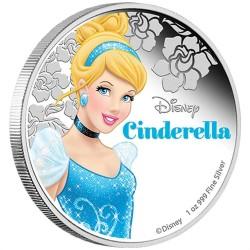 Niue 2 dollar 2015 Disney - Assepoester: Prinses Assepoester - 1 Oz. silver