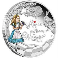 2015 ALICE IN WONDERLAND - Tuvalu 1 dollar 2015 1 oz silver coin