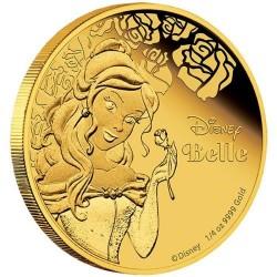 Niue 25 dollar 2015 Disney - Belle en het Beest: Prinses Belle - 1/4 Oz. goud