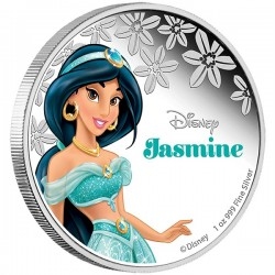 Niue 2 dollar 2015 Disney - Aladdin: Prinses Jasmine - 1 Oz. zilver