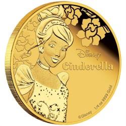 Niue 25 dollar 2015 Disney - Assepoester: Prinses Assepoester - 1/4 Oz. goud