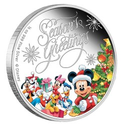 Niue 1 dollar 2014 Disney - Season's Greetings - 1/2 Oz. zilver