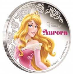 Niue 2 dollar 2015 Disney - Doornroosje: Prinses Aurora - 1 Oz. zilver