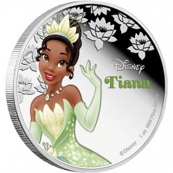Niue 2 dollar 2016 Disney - Prinses en de kikker: Prinses Tiana - 1 Oz. zilver