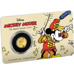 Niue 2,50 dollar 2016 Disney - Mickey Through the Ages 1 - the Band Concert - 0,5 gram goud coincard
