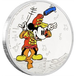 Niue 2 dollar 2016 Disney - Mickey Through the Ages 1 - the Band Concert - 1 Oz. zilver