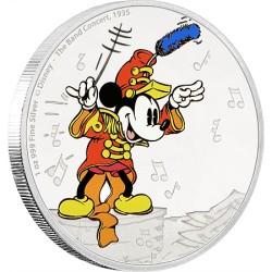 Niue 2 dollar 2016 Disney - Mickey Through the Ages 1 - the Band Concert - 1 Oz. zilver
