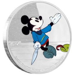 Niue 2 dollar 2016 Disney - Mickey Through the Ages 2 - Little Brave Tailor - 1 Oz. zilver