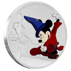 Niue 2 dollar 2017 Disney - Mickey Through the Ages 4 - Fantasia - 1 Oz. zilver