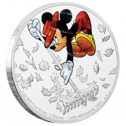 Niue 2 dollar 2017 Disney - Mickey Through the Ages 7 - Little Whirlwind - 1 Oz. zilver