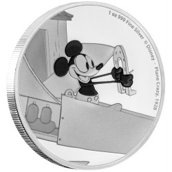 Niue 2 dollar 2016 Disney - Mickey Through the Ages 3 - Plane Crazy - 1 Oz. zilver