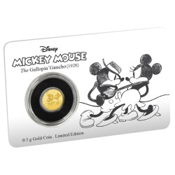 Niue 2,50 dollar 2017 Disney - Mickey Through the Ages 5 - The Gallopin´ Gaucho - 0,5 gram goud coincard