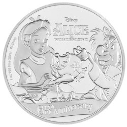 Niue 2 dollar 2016 Disney - 65 jaar Alice in Wonderland - 1 Oz. zilver