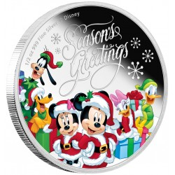 Niue 1 dollar 2016 Disney - Season's Greetings - 1/2 Oz. zilver