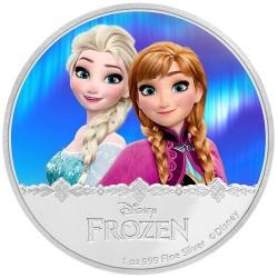Niue 2 dollar 2016 Disney - Frozen - Elsa & Anna - 1 Oz. zilver