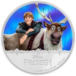 Niue 2 dollar 2016 Disney - Frozen - Kristoff & Sven - 1 Oz. zilver