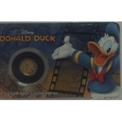 Niue 2,50 dollar 2016 Disney - Mickey & Friends - Donald Duck - 0,5 gram goud in coincard