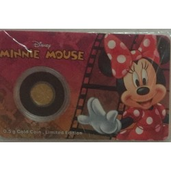 Niue 2,50 dollar 2016 Disney - Mickey & Friends - Minnie Mouse - 0,5 gram goud in coincard
