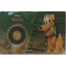 Niue 2,50 dollar 2016 Disney - Mickey & Friends - Pluto - 0,5 gram goud in coincard