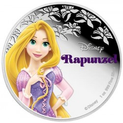 Niue 2 dollar 2016 Disney - Prinses Rapunzel - 1 Oz. zilver