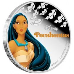 Niue 2 dollar 2016 Disney - Pocahontas - Prinses Pocahontas - 1 Oz. zilver