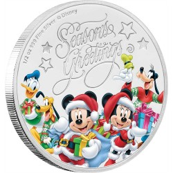 Niue 1 dollar 2017 Disney - Season's Greetings - 1/2 Oz. silver