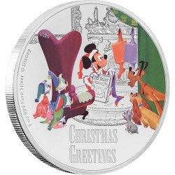 Niue 2 dollar 2017 Disney - Season's Greetings Classic - 1 Oz. zilver