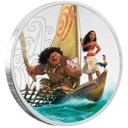 Niue 2 dollar 2017 Disney - Moana - 1 Oz. zilver