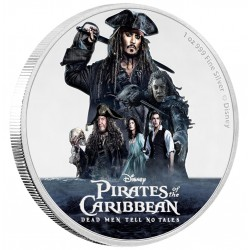 Niue 2 dollar 2017 Disney - Pirates of the Caribbean - Dead Men Tell No Tales - 1 Oz. zilver