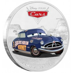 Niue 2 dollar 2017 Disney Pixar - Cars - 4) Doc Hudson - 1 Oz. zilver