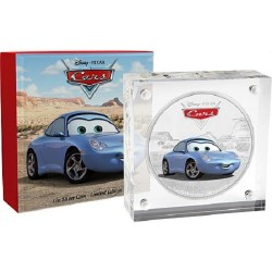 Niue 2 dollar 2017 Disney Pixar - Cars - 2) Sally - 1 Oz. zilver