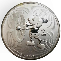 Niue 2 dollars 2017 Disney - Mickey Mouse - Steamboat Willie - 1 Oz. zilver bullion