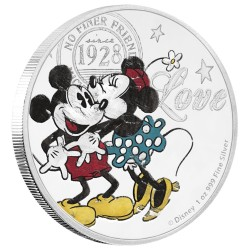 Niue 2 dollars 2017 Disney - True Love Forever - 1 Oz. zilver