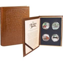 Niue 4x 2 dollars 2017 Disney Book Story - 1) Jungle Book - 1 Oz. silver coinset