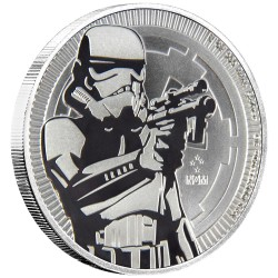 Niue 2 dollars 2018 Star Wars bullion - 2) Storm Trooper - 1 Oz. silver coin