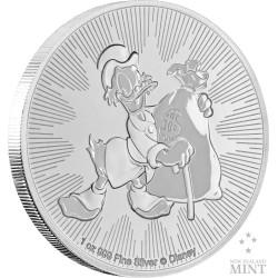 Niue 2 dollars 2018 Disney - Scrooge McDuck - 1 Oz. zilver bullion