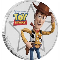 Niue 2 dollar 2018 Disney Pixar - Toy Story - Woody - 1 Oz. zilver