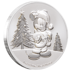 Niue 2 dollars 2019 Disney - Mickey Christmas 2019 - 1 Oz. silver coin