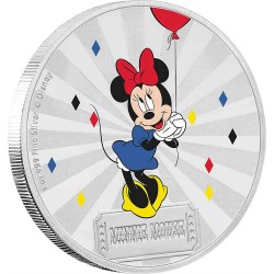 Niue 2 dollars 2019 Disney - Mickey Mouse & Friends Carnival 2 - Minnie Mouse - 1oz silver coin