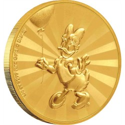 2020 Disney Mickey Mouse & Friends Carnival 4) DAISY DUCK - Niue 25 dollars 2020 1/4 oz gold coin