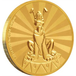 2020 Disney Mickey Mouse & Friends Carnival 5) PLUTO - Niue 25 dollars 2020 1/4 oz gold coin