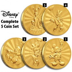 Niue 25 dollars 2020 Disney - Mickey Mouse & Friends Carnival Complete Set - 5x 1/4oz gold coin