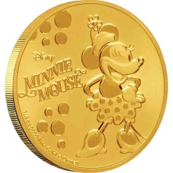Niue 25 dollars 2019 Disney - Minnie Mouse - 1/4 Oz. gold proof coin