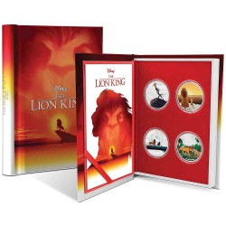 Niue 4x 2 dollars 2019 Disney Book Story - 3) The Lion King - 1 Oz. silver coin set