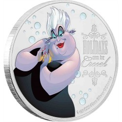 Niue 2 dollars 2019 Disney Villains - 4) Ursula™ - 1oz silver coin