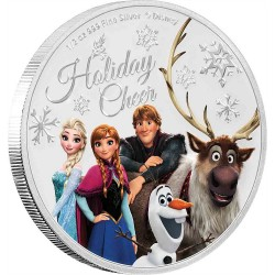 Niue 1 dollar 2019 Disney - Season's Greetings FROZEN - 1/2 Oz. silver coin