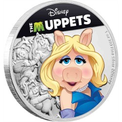 Niue 2 dollars 2019 Disney - The Muppets - Miss Piggy - 1oz silver coin