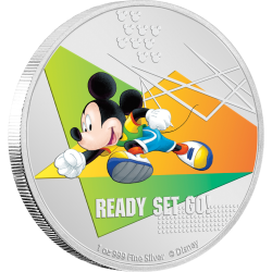 2020 Disney Mickey Mouse Sports RUNNING - Niue 2 dollars 1oz silver coin