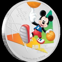 2020 Disney Mickey Mouse Sports BASKETBALL- Niue 2 dollars 1oz silver coin